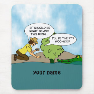 Funny Cache Geocaching Personalized Mouse Mat
