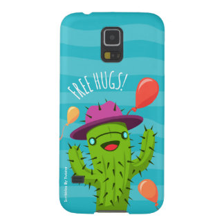 Funny Cactus Illustration / FreeHugs Phone Case Galaxy S5 Cover