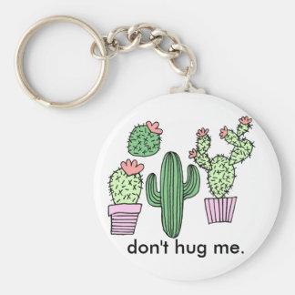 Funny Cactus Illustration Keychain