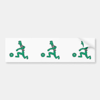 funny cactus playing soccer bumper stickers
