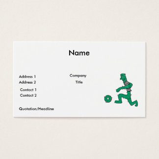 funny cactus playing soccer business card