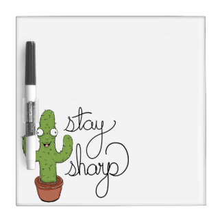 Funny Cactus Stay Sharp Dry-Erase Board