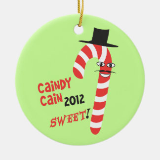 Funny CAINdy CAIN - Herman Cain 2012 for President Christmas Ornaments