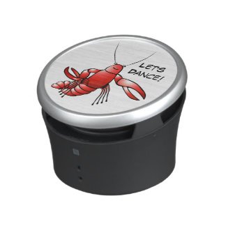 Funny Cajun Cartoon Crawfish Crawfish Let's Dance Bluetooth Speaker