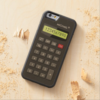 Funny Calculator Geek with Custom Text Carved® Maple iPhone 6 Bumper