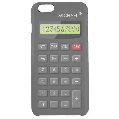Funny Calculator Pattern Personalized Geeky Clear iPhone 6 Plus Case