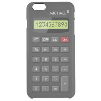 Funny Calculator Pattern Personalized Geeky Uncommon Clearly™ Deflector iPhone 6 Plus Case