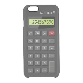 Funny Calculator Pattern Personalized Geeky Uncommon Clearly™ Deflector iPhone 6 Case