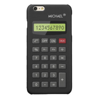 Funny Calculator Personalized Geeky Glossy iPhone 6 Plus Case