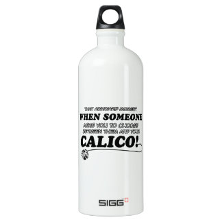 Funny calico designs water bottle
