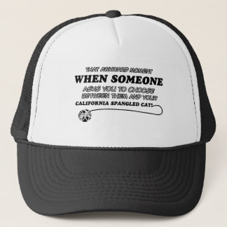 Funny califonia spangle cat designs trucker hat