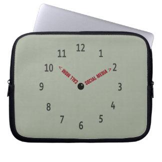Funny Call Mom Imaginary Clock Laptop Sleeve