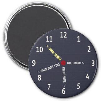 Funny Call Mom Memo Imaginary Clock 3 Inch Round Magnet