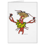 funny calypso lobster greeting card
