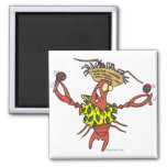 funny calypso lobster magnet