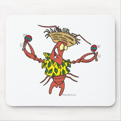funny calypso lobster mouse pad