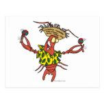 funny calypso lobster postcard