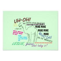 funny camel hump day birthday invitation