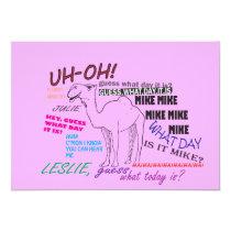 funny camel hump day graduation invitation