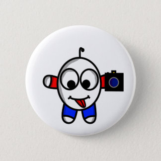 funny camera dude pinback button