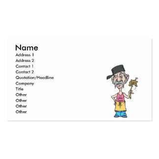 funny camp cook with mush slop business card