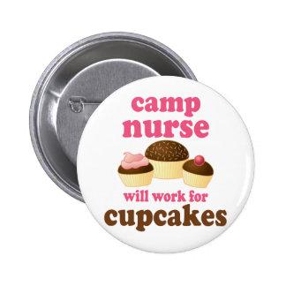Funny Camp Nurse Button