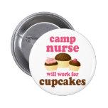 Funny Camp Nurse Buttons