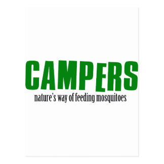 Funny camping designs postcard