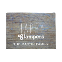 Funny Camping    Happy Glampers Campers Name Doormat
