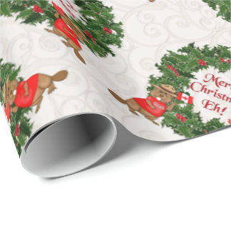 Funny Canadian Christmas Eh 2 Wrapping Paper