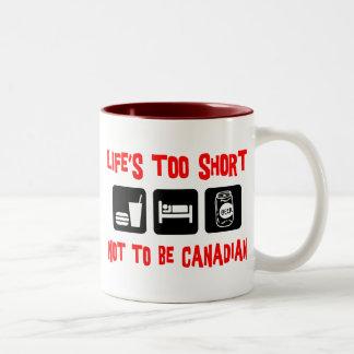Funny  Canadian Two-Tone Coffee Mug
