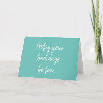 Funny Cancer Chemo Ovarian Teal Get Well Card