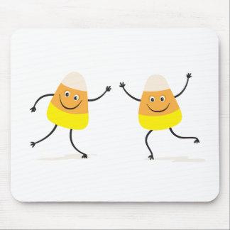 Funny candy corn cartoon characters mousepad