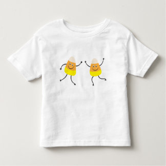 Funny candy corn cartoon characters t-shirt