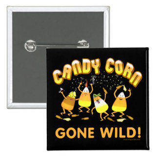Funny Candy Corn Halloween Button