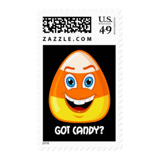 funny candy corn Halloween Stamps