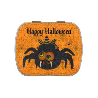 Funny Candy Corn Spider Halloween Party Favor Candy Tin