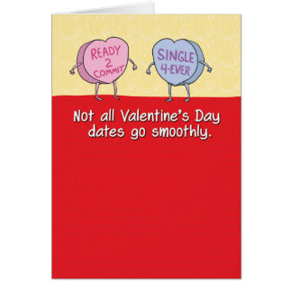 Funny Candy Hearts Bad Date Valentine's Day Card