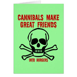 Funny cannibals card