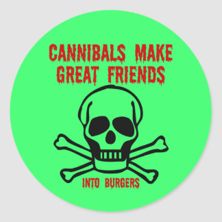 Funny cannibals classic round sticker