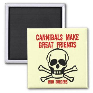 Funny cannibals fridge magnet