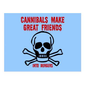Funny cannibals postcard