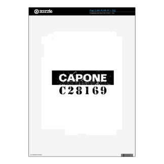 Funny Capone Decals For iPad 2