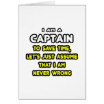 Funny Captain T-Shirts and Gifts Greeting Card
