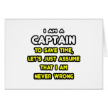 Funny Captain T-Shirts and Gifts Greeting Cards