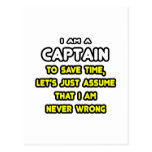 Funny Captain T-Shirts and Gifts Post Cards