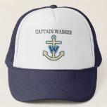 """Funny &quot;Captain Wanker&quot; Trucker Hat<br><div class=""""desc"""">Funny Captain Wanker Captain&#39;s trucker hat</div>"""