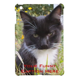 Funny Caption Kitten iPad Mini Case *add your own*