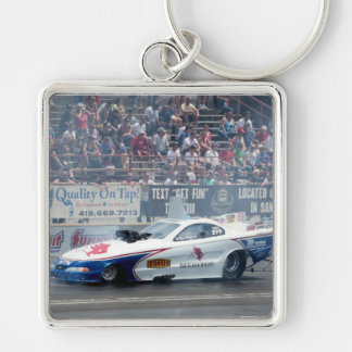 Funny Car Auto Racing Key Chain