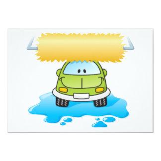 Funny Car In A Car Wash Invitations